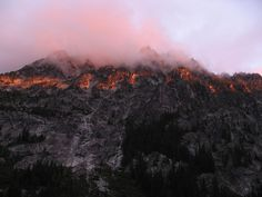 Fire Mountain - Sunrise on Snow Lakes by Eduardo Navarro on Wenatchee National Forest, Snow Lake, The Enchantments, Light Rays, One Light, Lakes, Mount Everest, Sunrise, Fire