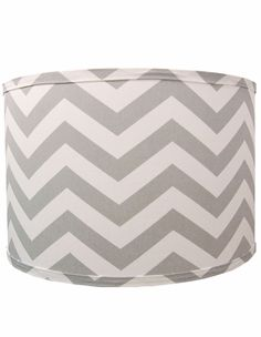 Grey Chevron Lamp Shade! baby room decor ideas- use over my white lamp (from when I was a baby)