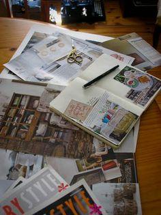 magazine collage journal