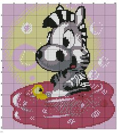 Zebra x-stitch is this cross stitched on or do you change stitches through out?