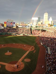 Double rainbow over America's beloved ballpark!