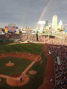 Double rainbow over America's beloved ballpark!