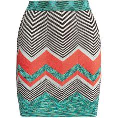Missoni Crochet-knit mini skirt (1 945 PLN) ❤ liked on Polyvore featuring skirts, mini skirts, knit mini skirt, crochet skirts, polka dot mini skirt, missoni and patterned skirts