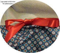 Stoffpakete - Stoffpaket♥Loop♥DIY Kreise petrol+Schleife Winter - ein Designerstück von kreawusel-aufgehuebscht bei DaWanda