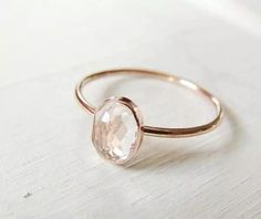 Simple. Love the rose gold band.