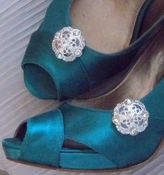 Rhinestone Fillagree Shoe Clips  set of 2  Bridal by ShoeClipsOnly, $28.00