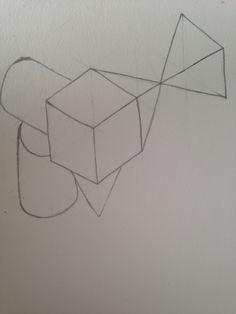 Composición cilindros, conos y piramides