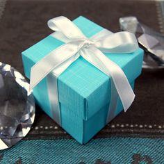 Aqua Blue Favor Box