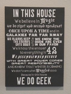 In This House We Do Geek  Customizeable by TheScrapbookerie