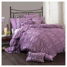 Purple Madelynn Comforter Set (
