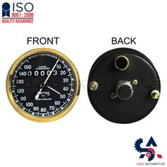 Smiths Replica Speedo Meter Speedometer 0-150 MPH Black For BSA Brass