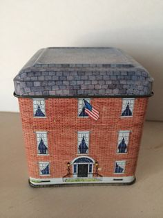 Collectable tin house box by VintageSavedBySue on Etsy