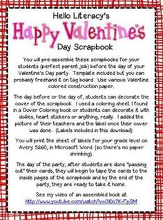 Valentine's Day Scrapbook {for Valentine's Day Cards from