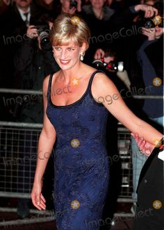 "February 12, 1997: Diana, Princess of Wales attending the ""Love and War"" premiere at the Odeon, Leicester Square, London. Photo By:dave Bennt/alpha/Globe Photos, Inc"