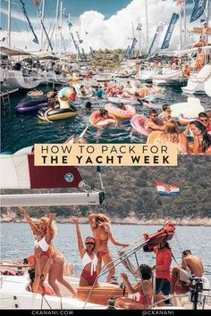 How to pack for The Yacht Week and Bucketlust. Everything you need to bring, plus a free printable packing checklist! #tyw #theyachtweek #yachtweek #packinglist #travelguide #packingtips #packingguide #italy #croatia #sailing