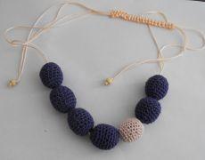 Nursing Necklace - mov/roz