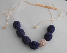 Nursing Necklace - mov/roz