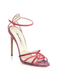 Brian Atwood - Cassia Colorblock Leather Sandals