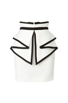 Sass & Bide to laugh out loud tailored skirt with peplum detail courthouse outfit Mode Monochrome, African Fashion Dresses, Fashion Outfits, Style Fashion, Look 2015, White Mini Skirts, Cute Skirts, Short Skirts, Rock