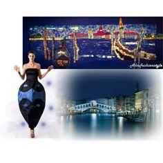 Laguna di Venezia - di Vittorio Camaiani Fashion and Martina Tittonel Mosaic Art by alvufashionstyle on Polyvore featuring arte