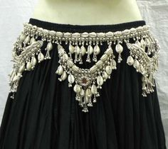 NW KUCHI TRIBAL COWRIES BELT BELLY DANCE HIP SKIRT ETHNIC GYPSY ATS BOHO CRAFT