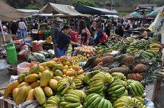 Market stalls in Villa de Leyva, Colombia.