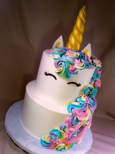 unicorn and rainbow cake with chocolate icing - Google Search