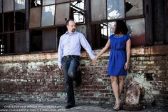Atlanta Engagement photography at the Goat Farm by Christopher Brock - www.chrisbrock.org