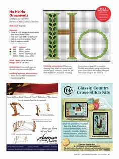 HoHoHo From Just Cross Stitch JCS March - April 2017 2 of 2