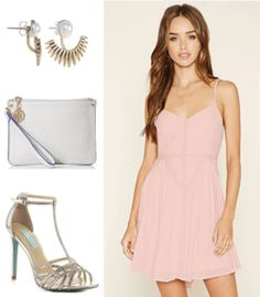 Outfit inspired by the pink dress from Dirty Dancing