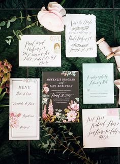 Dramatic floral wedding invitations | Wedding & Party Ideas | 100 Layer Cake
