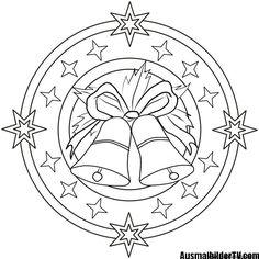 ausmalbilder weihnachten mandala