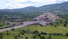 Teotihuacan - Wikipedia, the free encyclopedia. The view from the Pyramid of the Sun