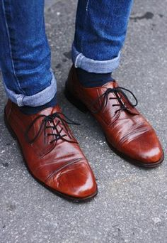 Vintage 80's Classic Italian Brown Leather Oxfords £42.00