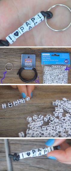 I Love Papa Keyring | DIY Fathers Day Crafts for Kids