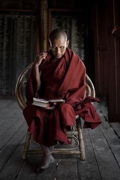 Buddhist Monk. Burma. Bas Uterwijk photography