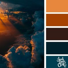 Cloudy Sunset // Explore the beautiful colors of the sky with these 25 color palettes inspired by spectacular skies and PANTONE's 2020 Color of the Year, Classic Blue. Check out these 25 color palettes inspired by Classic Blue and other beautiful skies at www.sarahrenaeclark.com #colorpalette #colorscheme #colorcombo #color Sunset Color Palette, Sunrise Colors, Colour Pallette, Design Seeds, Color Azul Rey, Color Me Mine, Aesthetic Colors, Beautiful Sky, Pantone Color