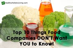 Are manufactures telling us what's in our food?  Are processed foods causing health problems?   Are there really chemicals in our food?
