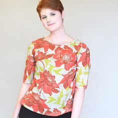 Looking for a stash-buster that will work with a wide range of fabrics and nearly any print? This chic and simple blouse is easy to sew, astoundingly versatile, and comfortable to wear year-round.