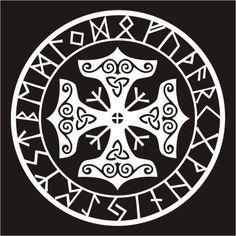 Viking runes Thor's hammer
