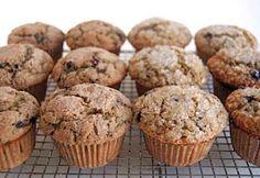 100% Whole Wheat Blueberry Muffins Recipe
