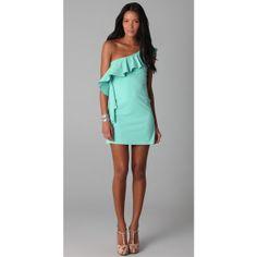 Susana Monaco One Arm Flutter Dress