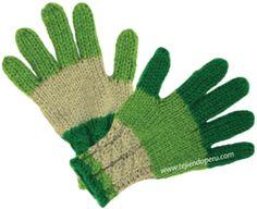 Guantes para niños tejidos en dos agujas o palillos (Tutorial)
