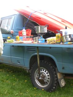 Cooking on VW Syncro Double Cab