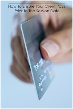 How to ensure payment before your session date