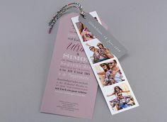 #Letterpress und Fotoautomatenbilder ... Der schönste Tag, angekündigt mit Ihren schönsten #Fotos #Hochzeitskarte M42-002 #Fotoeinladungskarte, #Einladungskarte, #Kreativehochzeit