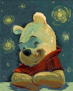 This Van Gogh-Inspired Winnie The Pooh is a Work of Art