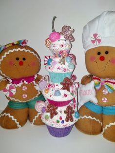 Fake Cupcakes Photo Props Gingerbread Man por FakeCupcakeCreations