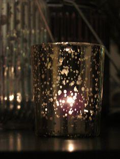 Set of 50 MERCURY GLASS GOLD Speckled Glass Candle Holders Votive Holder Candleholder Tea Light Vintage Wedding 2.5 Winter Christmas Gatsby on Etsy, $120.00