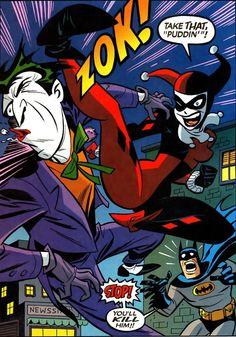 Harley Quinn Jump Kicking The Joker